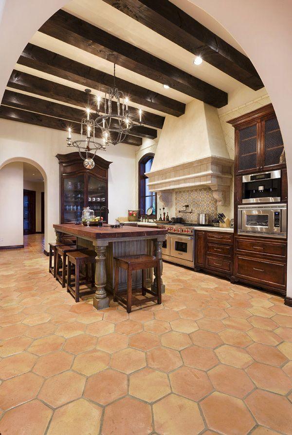 Spanish Inspired Dream Home On Lake Conroe Spanish Style Kitchen