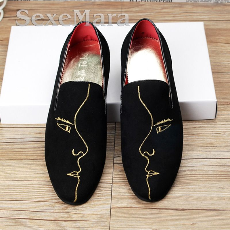 Floral Red Totem Breathable Fashion Sneakers Running Shoes Slip-On Loafers Classic Shoes
