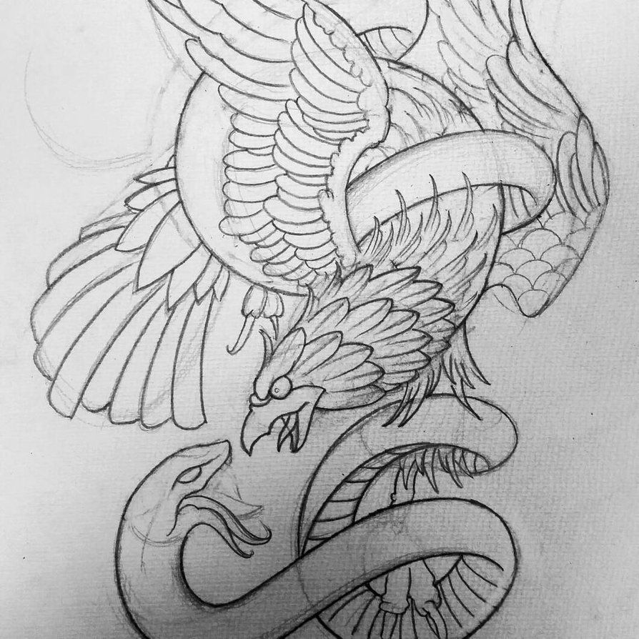 Eagle Snake Tattoo Design By Thirteen7s On Deviantart Snake