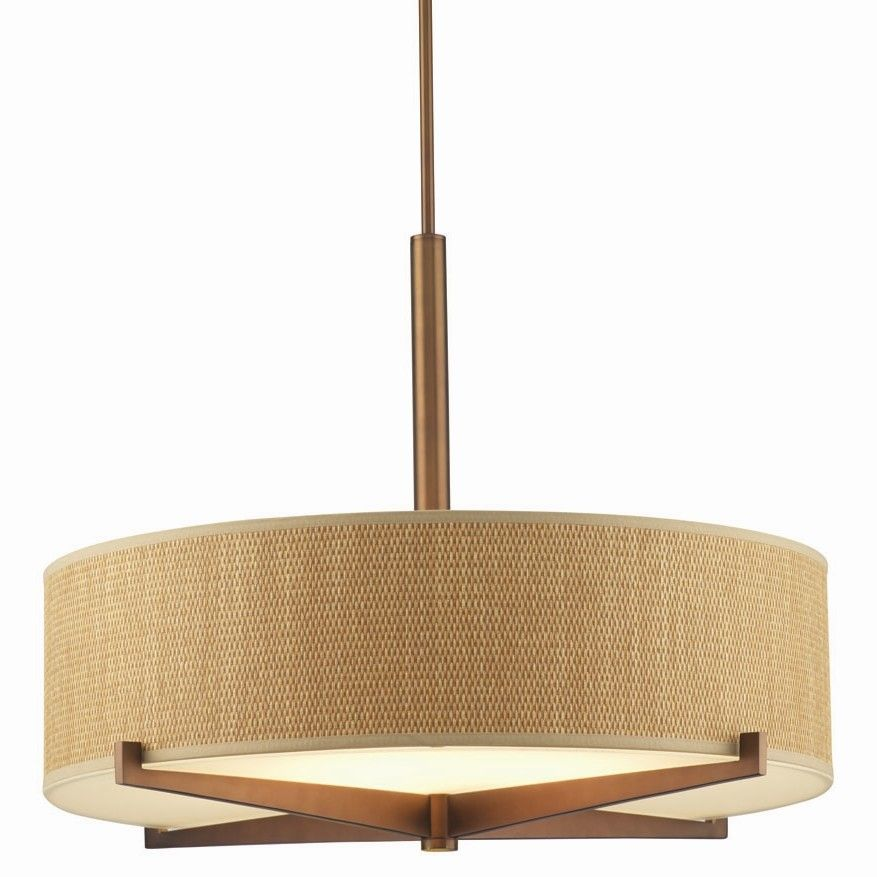 Philips Forecast Lighting Organic Modern Fisher Island Drum Pendant Shade |  AllModern Good Ideas