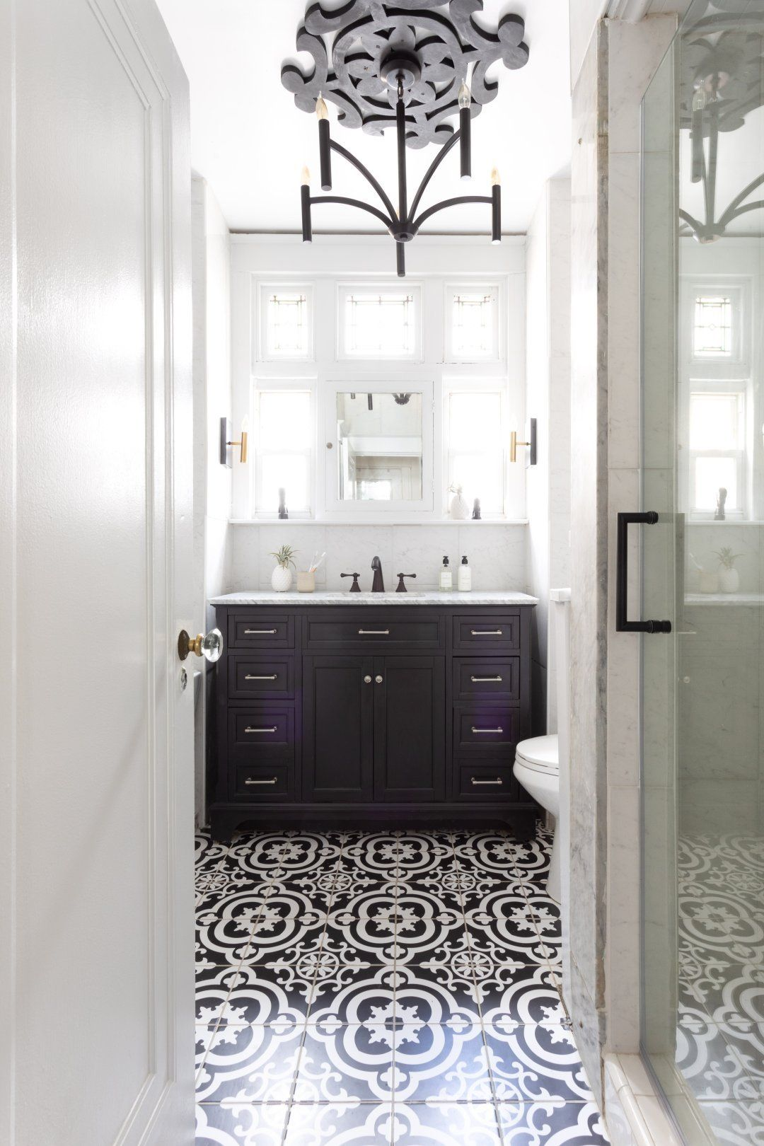 a new attitude a bathroom stuck in the 80s gets a total makeover rh pinterest com