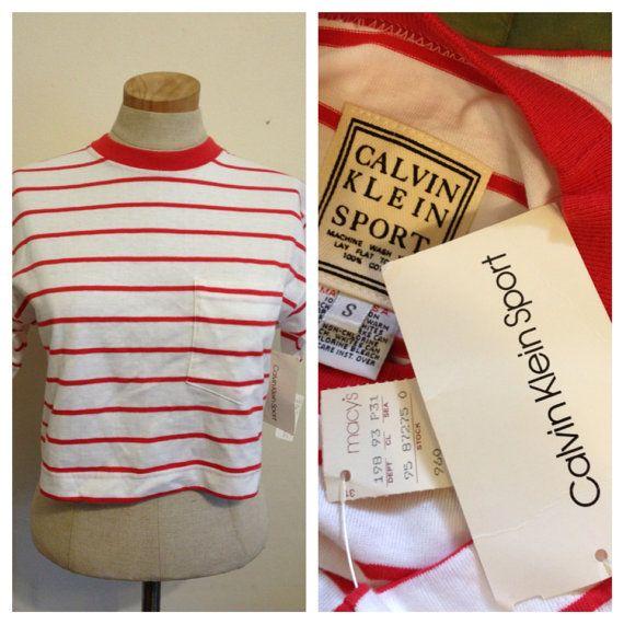 Vintage 90s Calvin Klein crop top shirt USA  on Etsy, $24.00