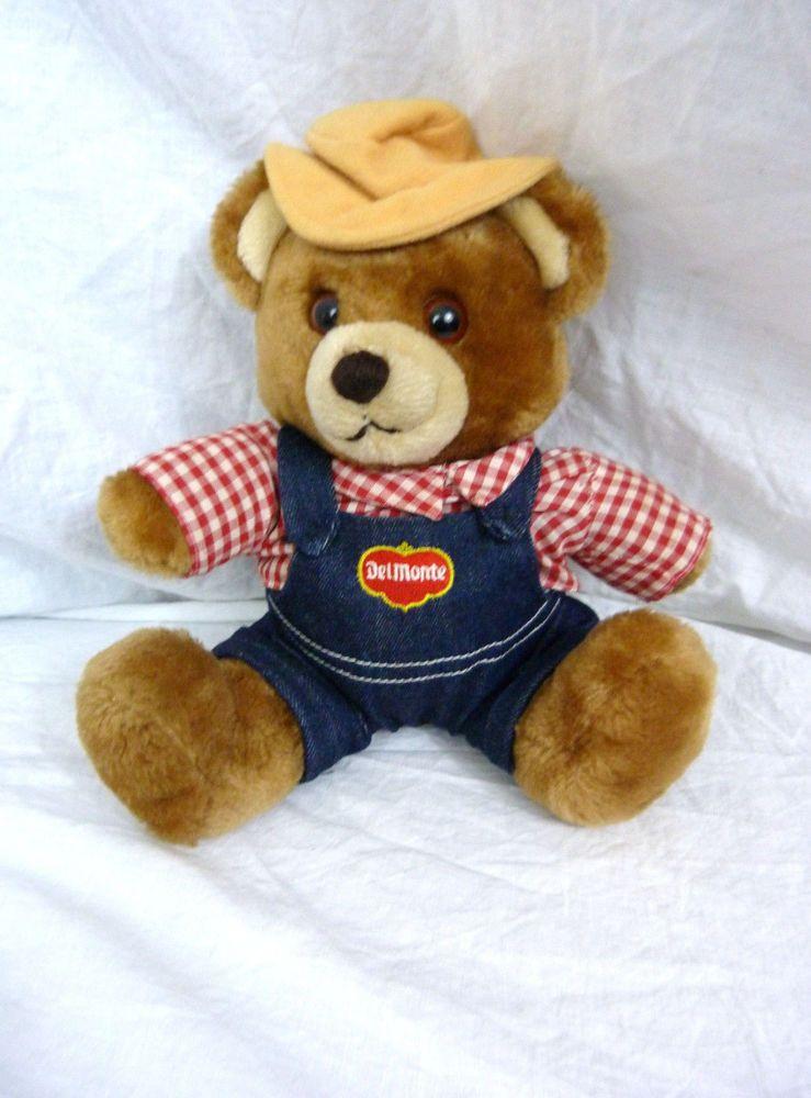 Vintage Del Monte Country Yumkin Brawny Bear Cute Plush R. Dankin & Company 1985 #DelMonte