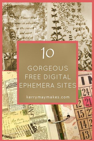 vintage ephemera printables for art journaling and planners 10 free rh pinterest it