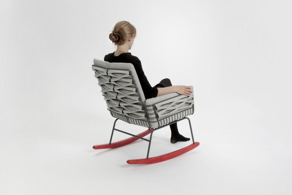 Push Rocking Chair Feutre Par Annika Goransson Blog Esprit Design Chaise A Bascule Rocking Chair Mobilier