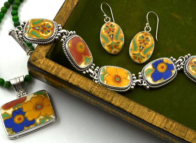 China Baroque Home Jewelry Made From Heirloom China