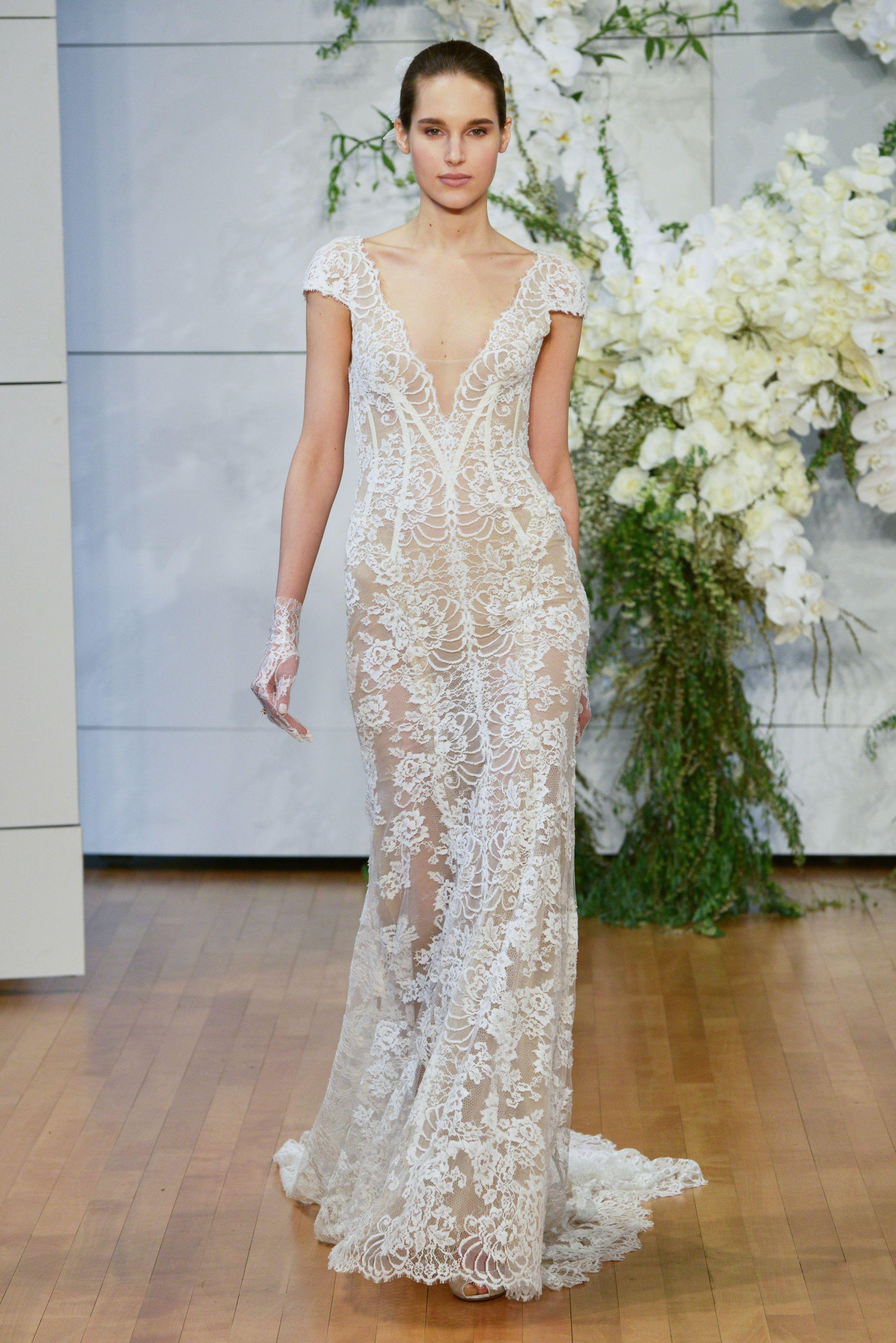 67e0d2224 Vestidos de novia con encaje  60 diseños para lucir elegante y sutil ...