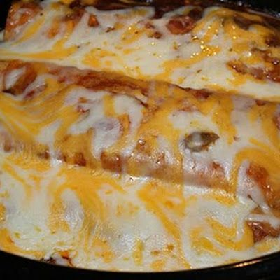 Black Bean Enchiladas in Crockpot or oven. We loved it! I didn't have cumin so I substituted with cayenne pepper. Gave it a kick.