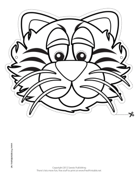 Tiger Mask to Color Printable Mask, free to download and