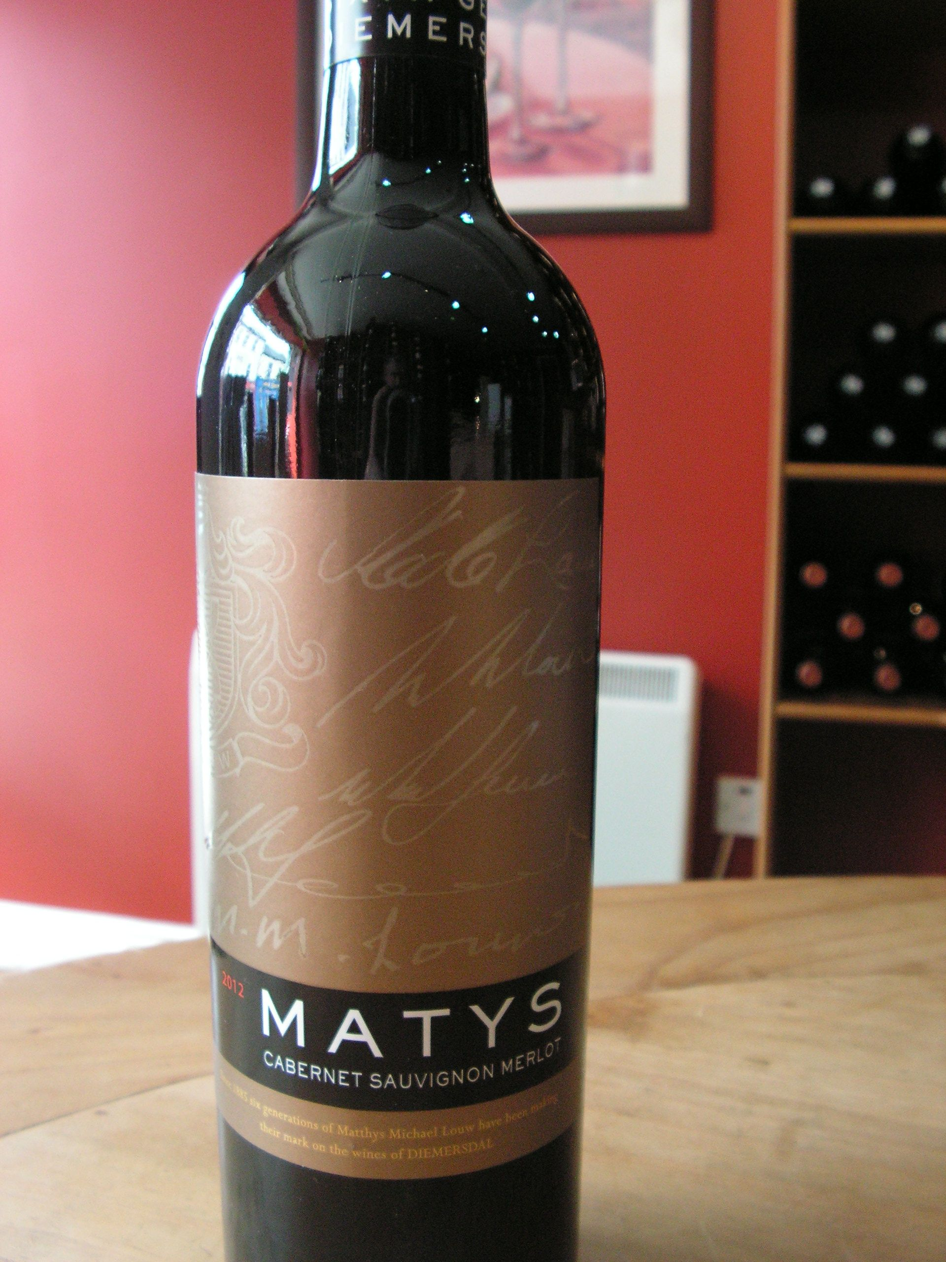 Matys Red From The Diemersdal Vineyard In South Africa This Medium Bodied Cabernet Sauvignon Merlot Blend Is A Wine For Any Occasion
