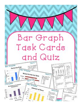 Bar graph task cards and quiz bar graphs multiple choice and cards bar graph task cards and quiz ccuart Gallery