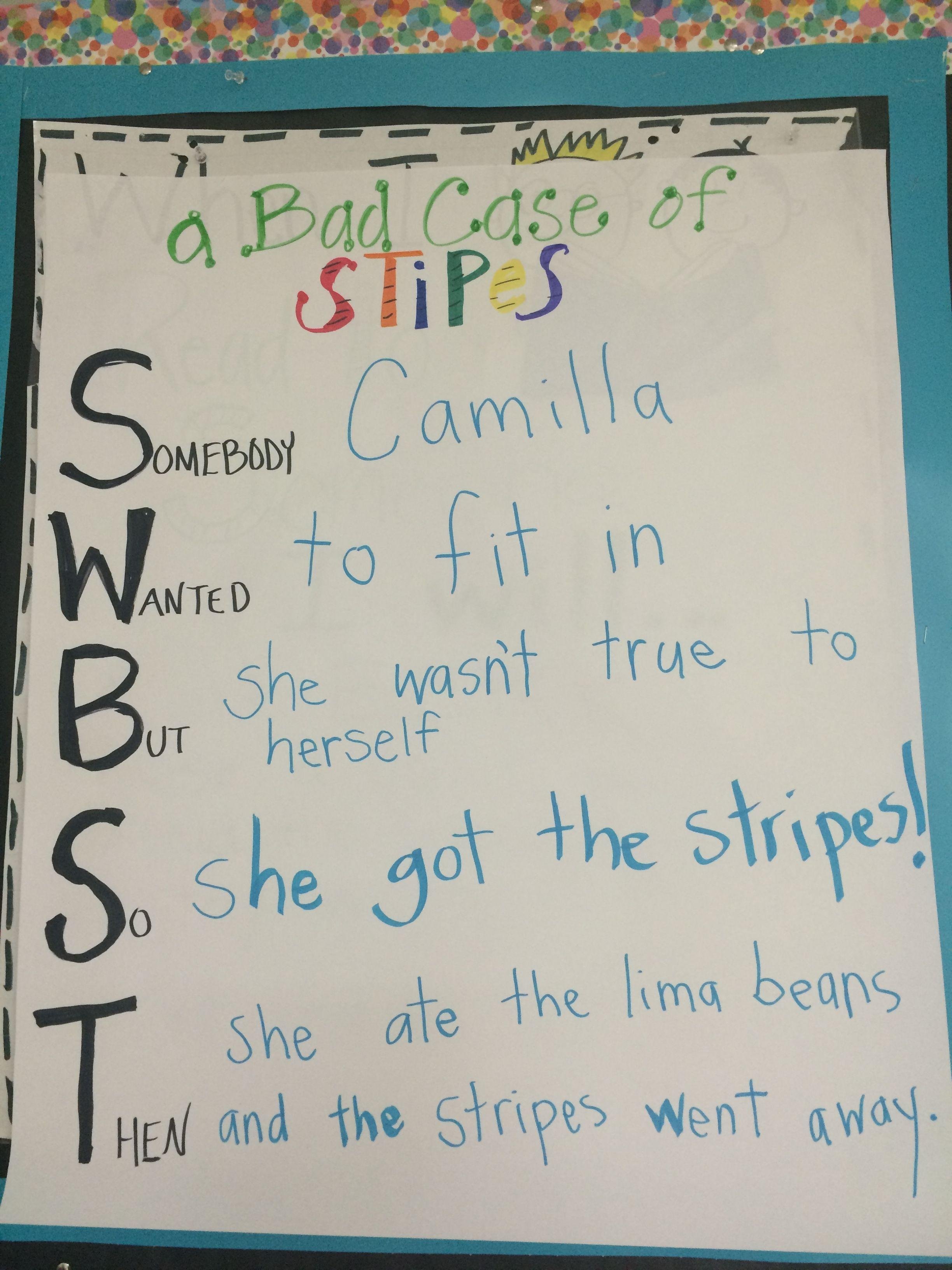 2nd Grade Summarizing Bad Case Of Stripes Someone Wanted