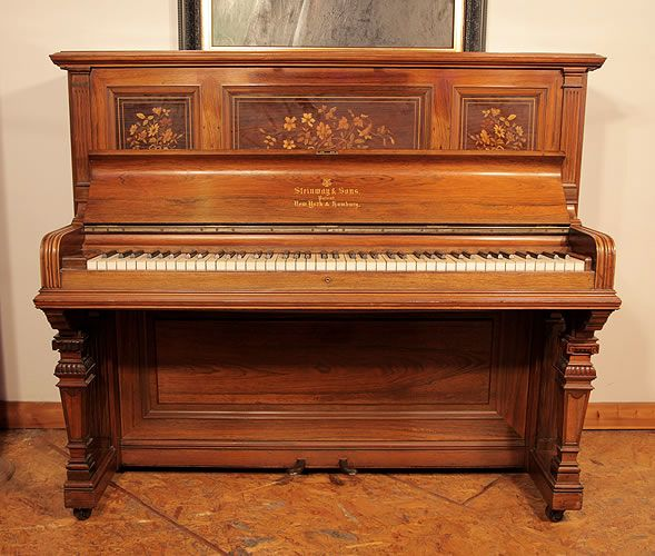 An 1891 Steinway Upright Piano For Sale With A Rosewood
