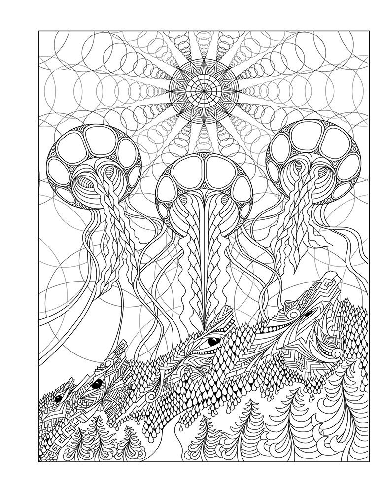 Coloring Book - 4th Edition | Phil Lewis Art | Colouring for Adults ...