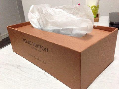 カルトナージュ ブランド紙袋リメイクでテッシュボックス 紙袋 リメイク 紙袋 ティッシュケース 手作り