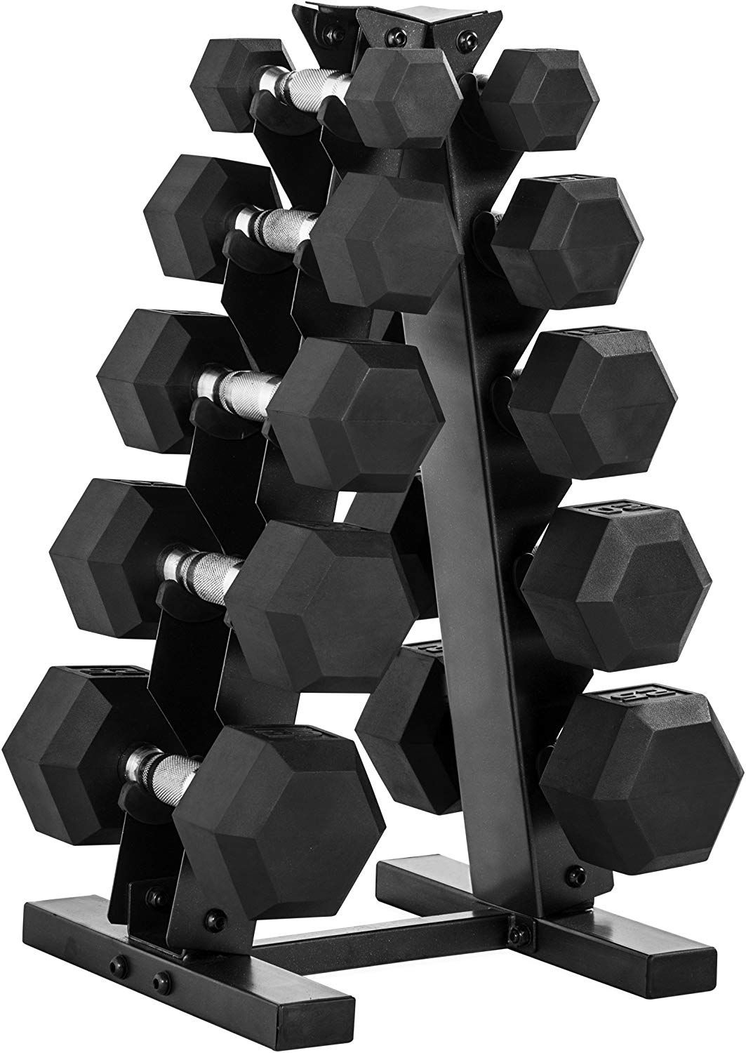 CAP Barbell 150Pound Dumbbell Set with Rack, Multiple