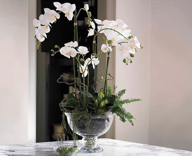 and another artificial orchid arrangement by bloom uk com rh pinterest com