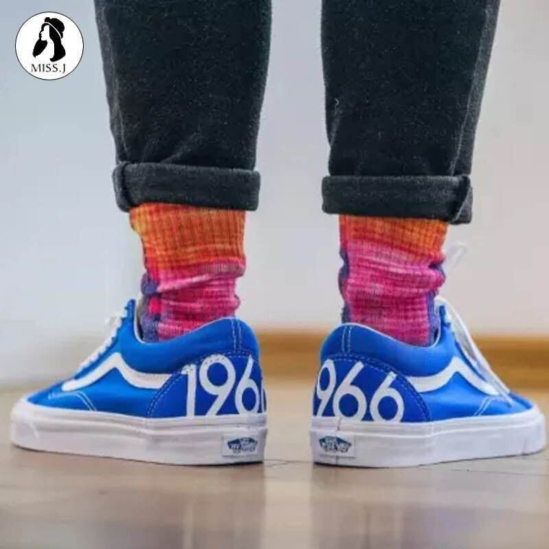 VANS men and women shoes new 1966 limited OLD SKOOL blue VN0A38G1MVW Fans  2017 spring new 36-44 model LC0625  Vans b19e5f478