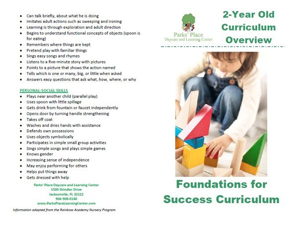 2-Year Old Curriculum Brochure | Curriculum | Pinterest | Home ...