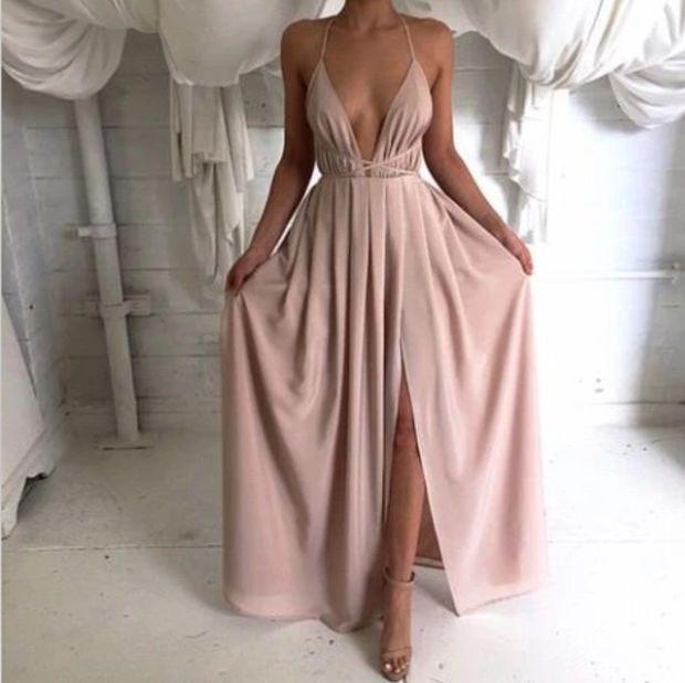 Deep V-Neck Sleeveless Dress   Summer style   Pinterest   Vestiditos