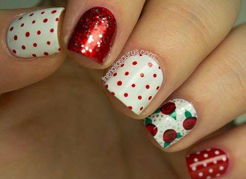 Decoracion Unas Navidad Unas De Navidad Pinterest Manicure - Decoracion-uas-navidad