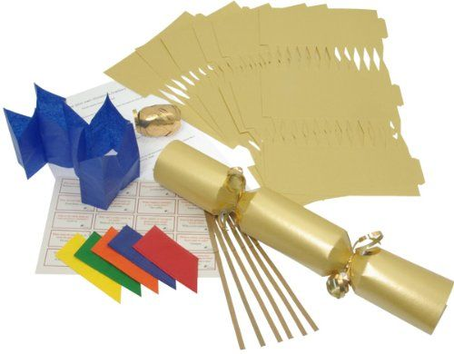 Make your own 14 gold christmas cracker kits x 6 amazon make your own 14 gold christmas cracker kits x 6 amazon solutioingenieria Gallery