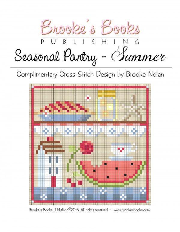 summer pantry cross stitch pattern | Cross Stitch Needle Book ...