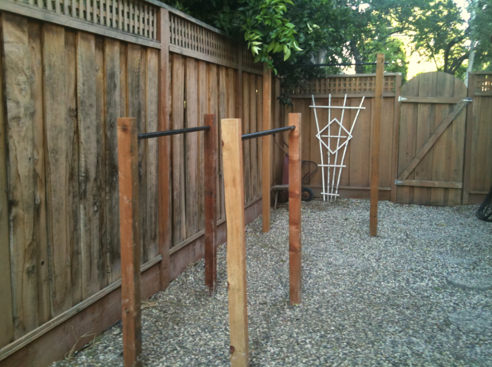 building outdoor pull up bar and parallel bars homemade backyards