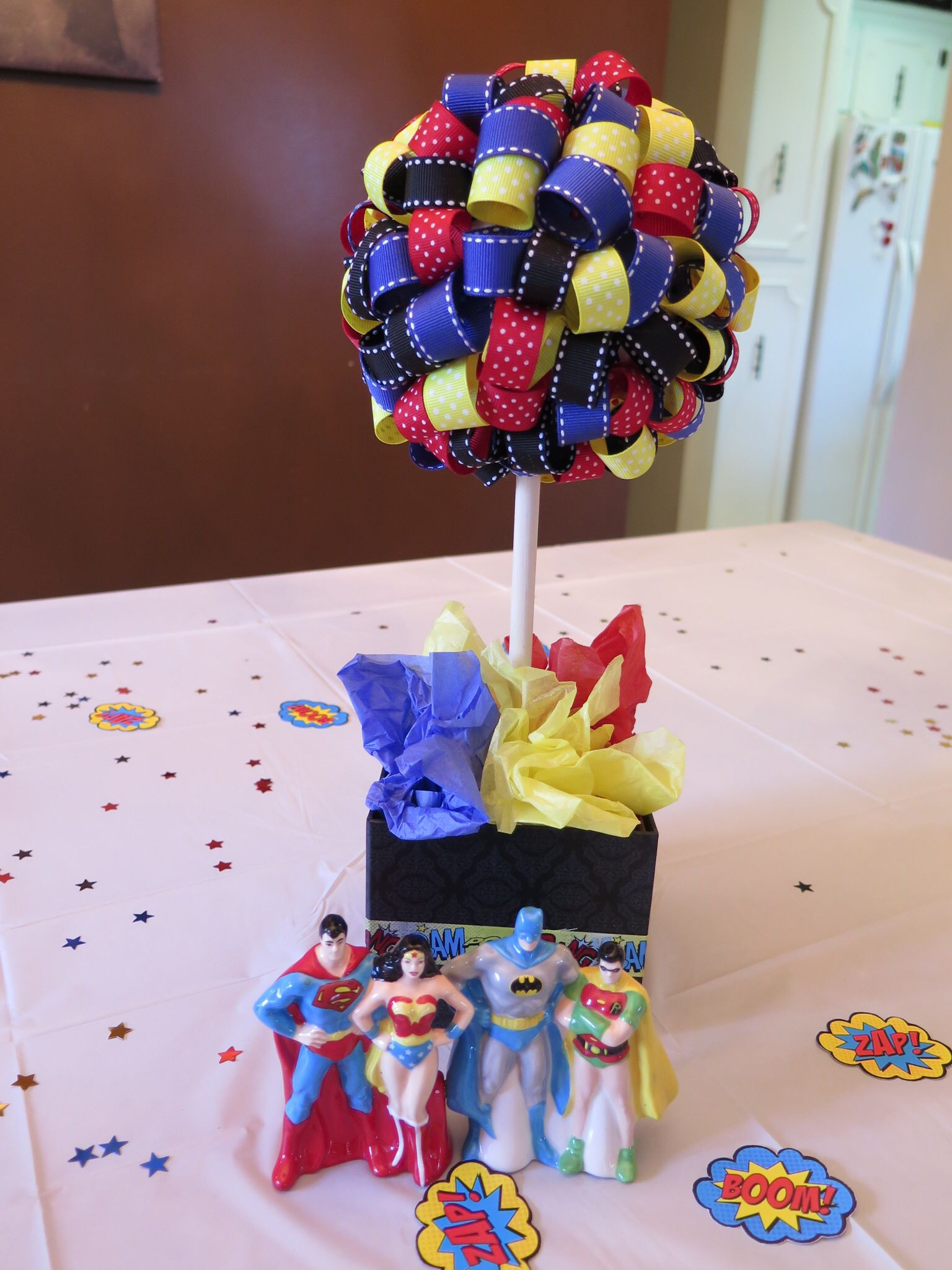 purple themed bridal shower%0A Superman  u     Batman shower
