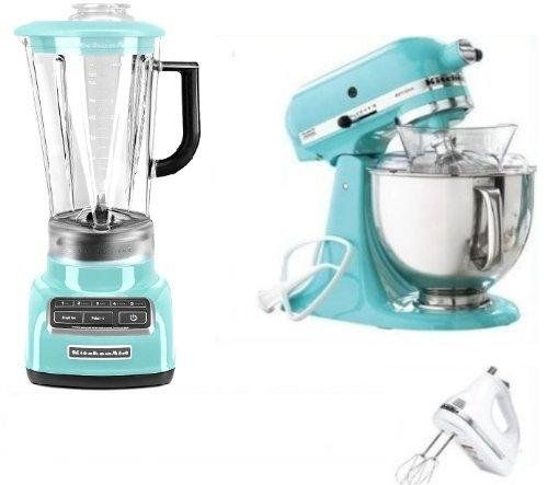 kitchenaid artisan tilt stand mixer blender and hand mixer blue rh pinterest com