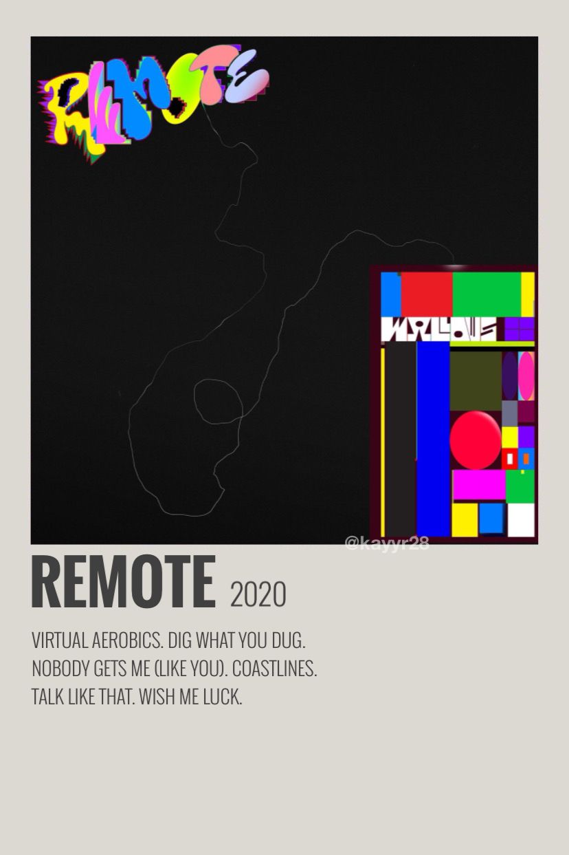 remote ep wallows aesthetic poster