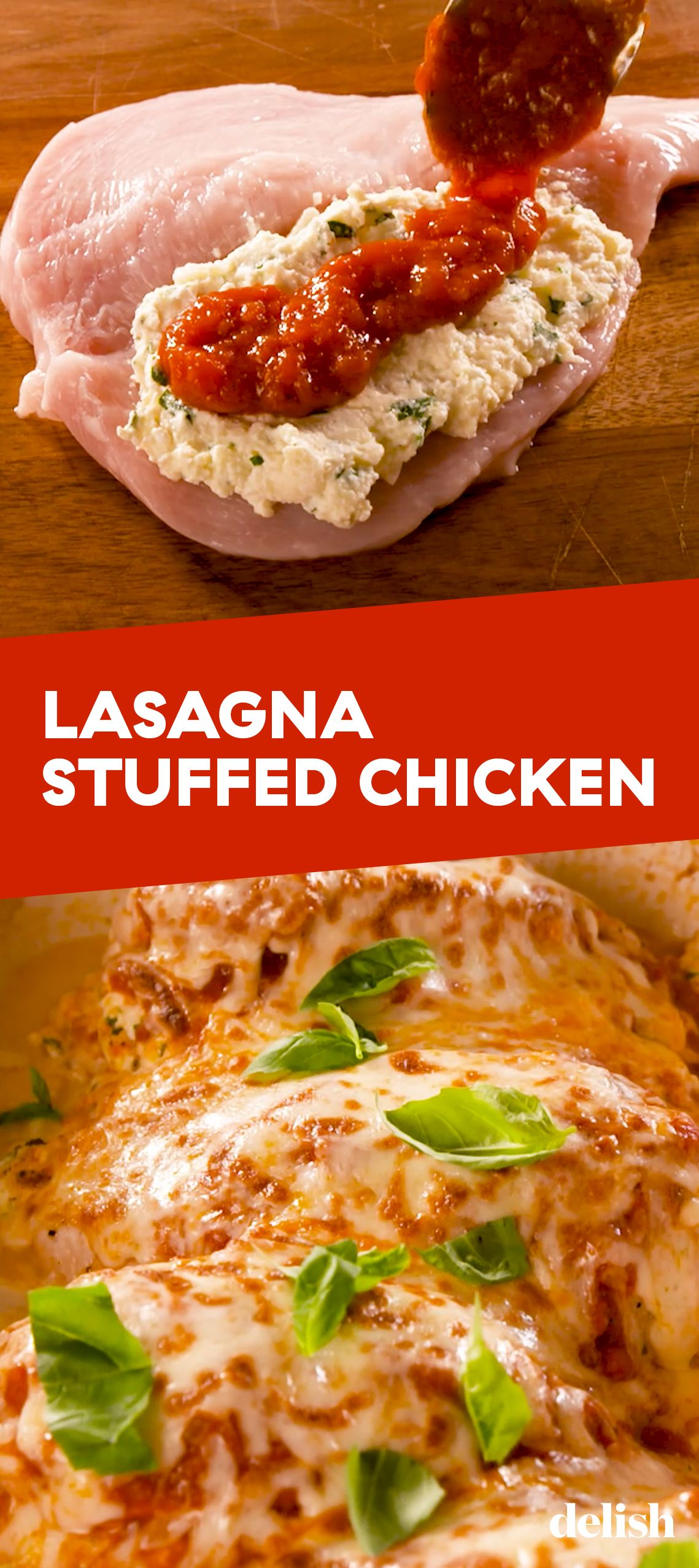 Lasagna Stuffed Chicken Recipe Yummy Chicken Recipes Healthy