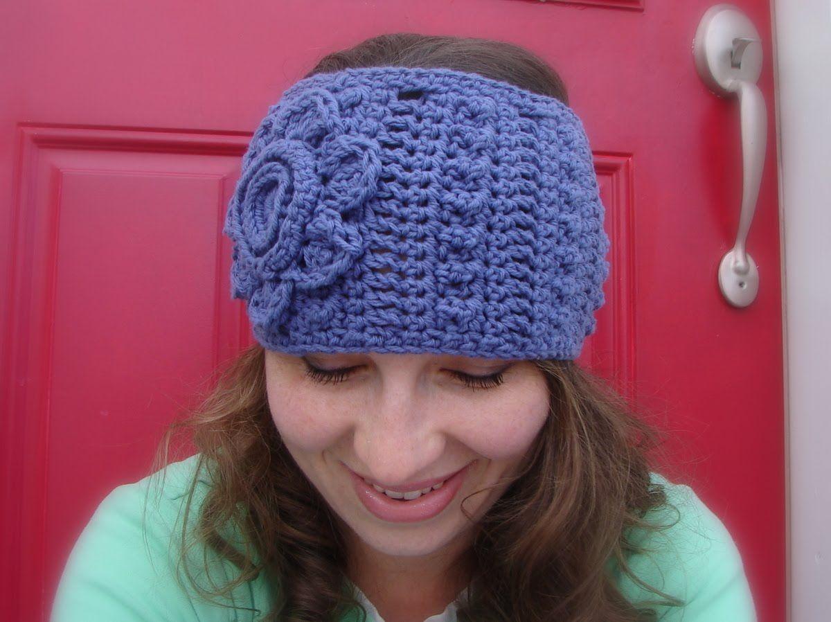 free crochet headband ear warmer pattern | ... crochet and other ...
