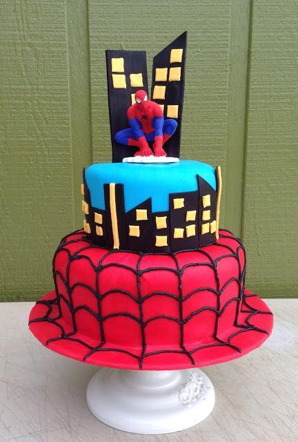 Terrific Spiderman Cake Spiderman Cake Spiderman Birthday Party Cake Funny Birthday Cards Online Hetedamsfinfo