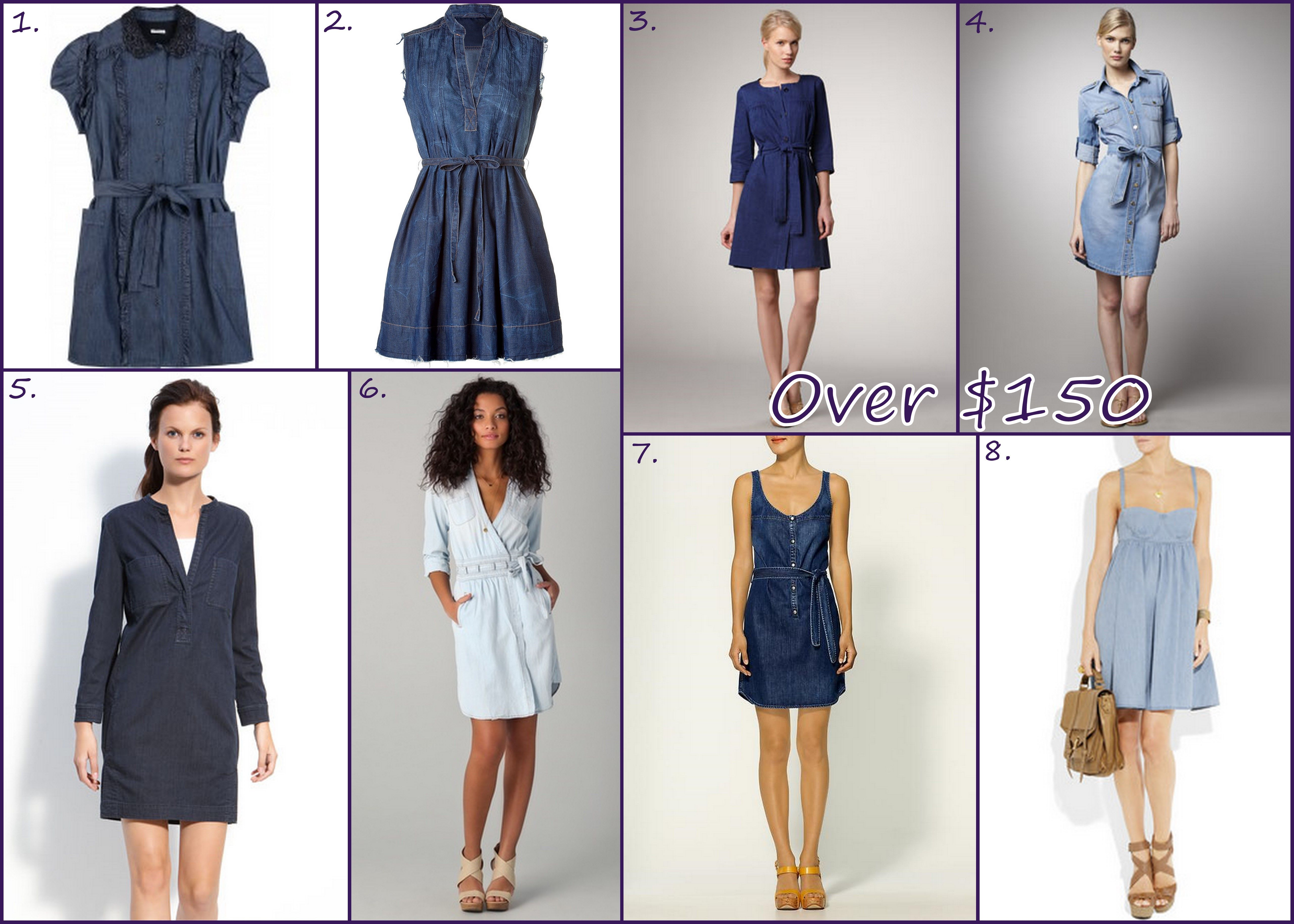ef4ef8e2ce Denim is HOT and it s not just for jeans anymore. Dresses of all shapes and
