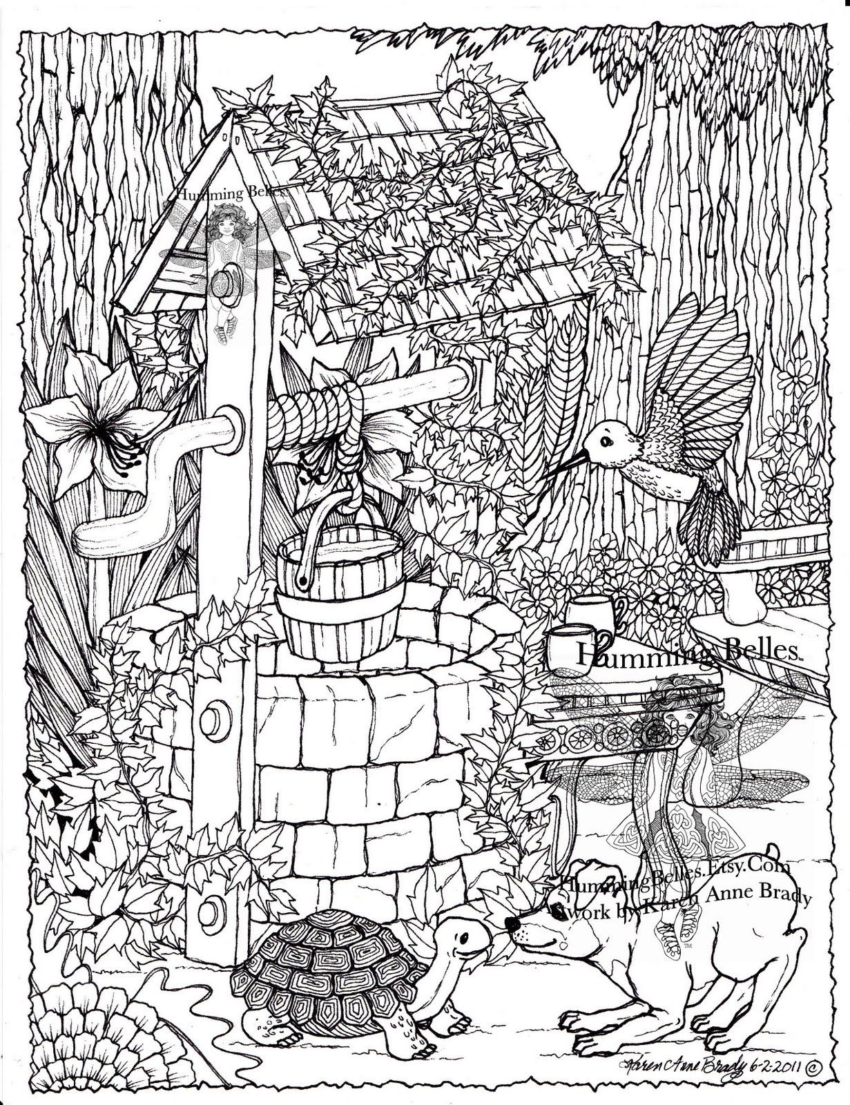 humming belles coloring pages - Sunken Pirate Ship Coloring Pages