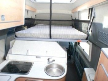 drop down bed ford transit lwb westfalia big nugget van. Black Bedroom Furniture Sets. Home Design Ideas