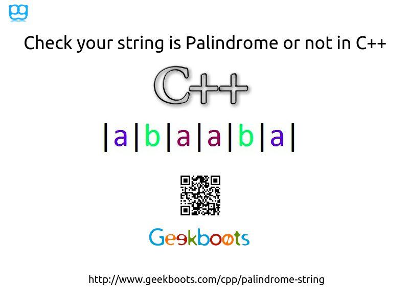 Palindrome String | Programming Geek | Learn programming, C