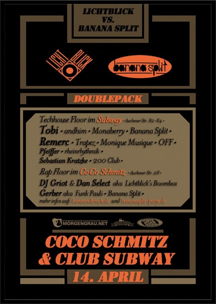 Coco Schm: Lichtblick @kunstundkrach mit bananasplit #colognehiphop eventkalender :http://t.co/AdB0q3F4 #newinmyzoo http://t.co/p6npbj9o