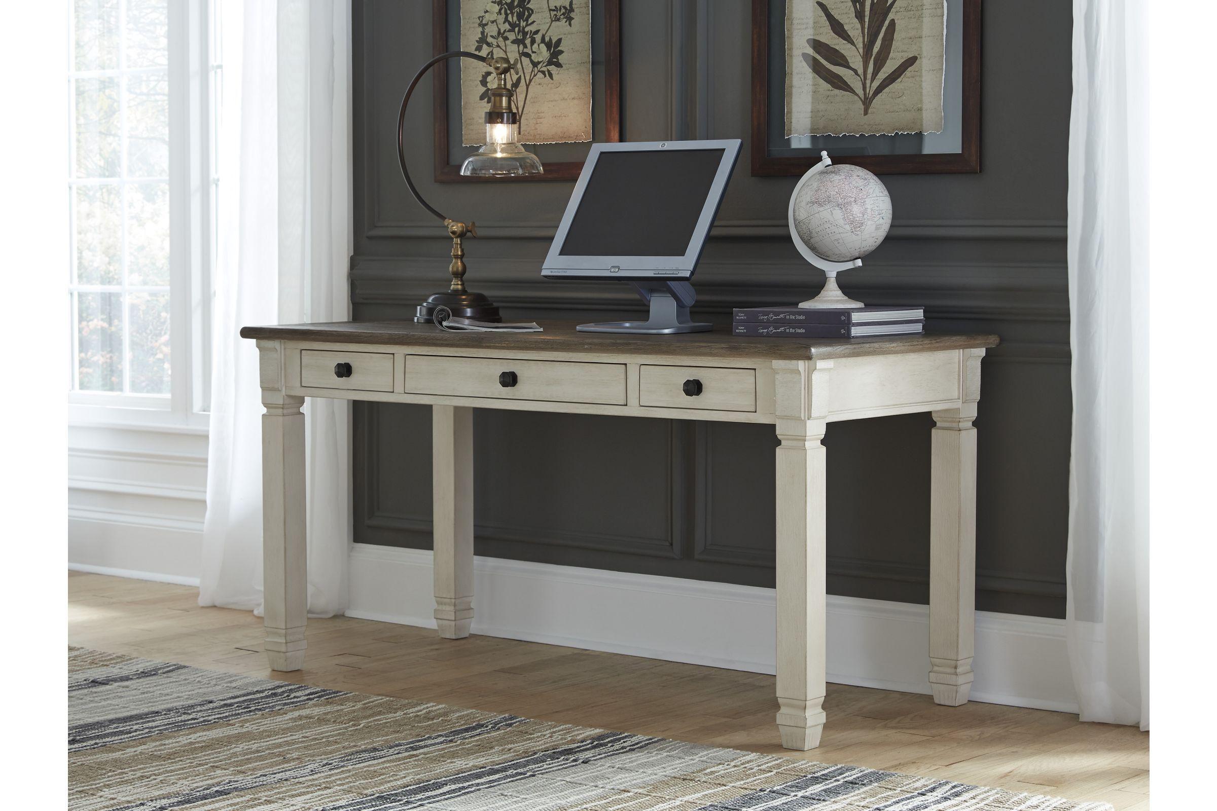 19++ Farmhouse two tone desk model