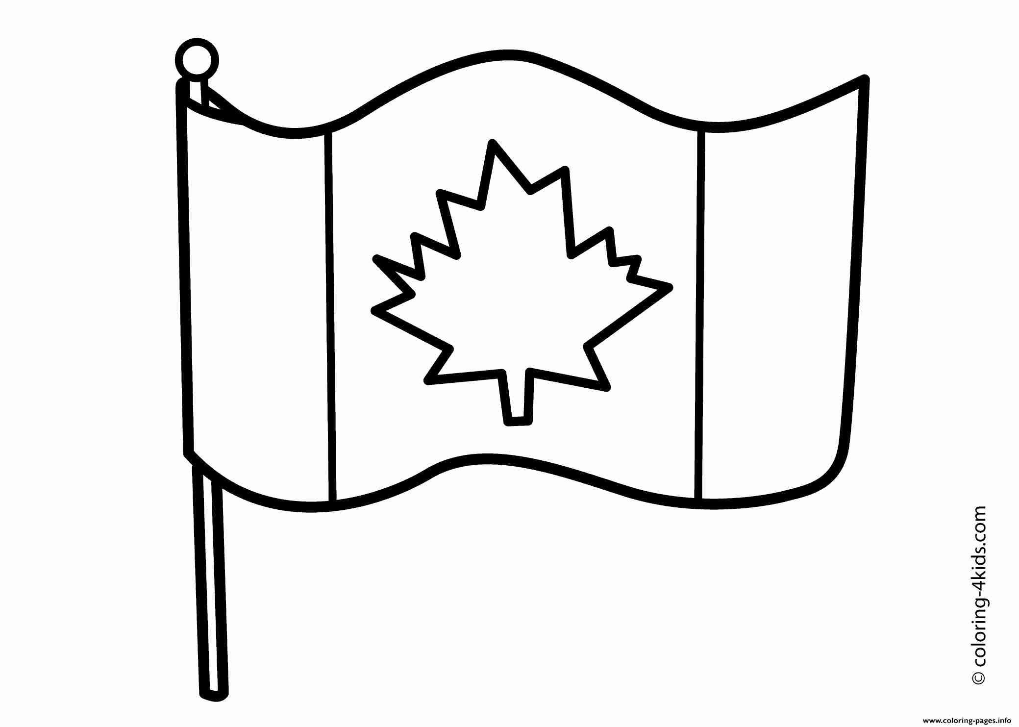Tested Printable Canada Flag Canadian Coloring Page Free Pages 7