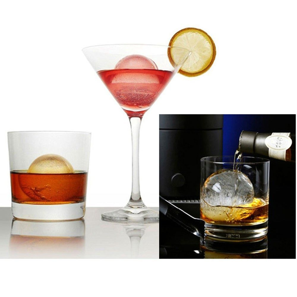 Feature 4 cup glass shape silicone ice cube maker freeze