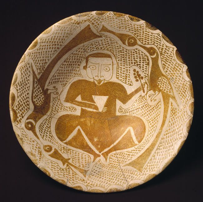 Bowl, 10th century  Iraq  Composite body, luster-painted