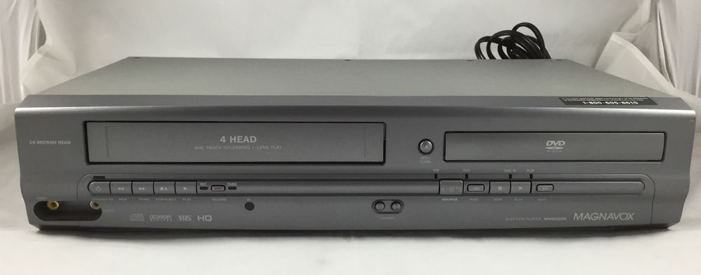 Magnavox DVD VCR Combo MWD2205 With Remote Tested #MAGNAVOX