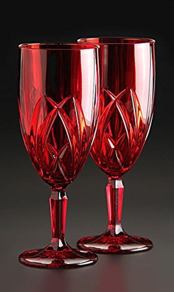 Marquis by Waterford Brookside Iced Beverage Glass Red Set of 4 ...