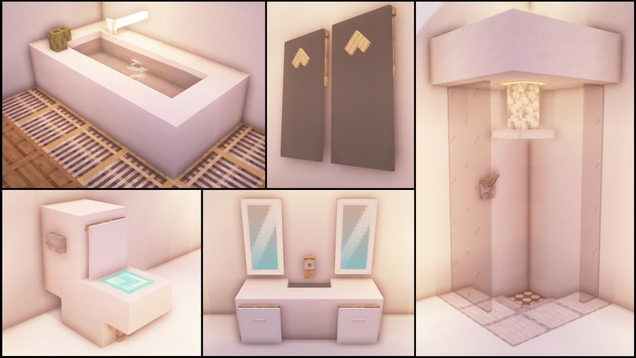 Reddit - Minecraftbuilds - 40+ Bathroom Build Hacks and ...