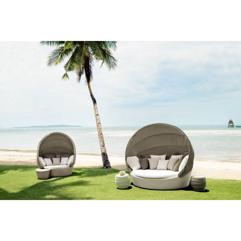 Dedon Orbit XXL Sofainsel - hochwertige Outdoor Gartenmöbel von - gartenmobel rattan modern
