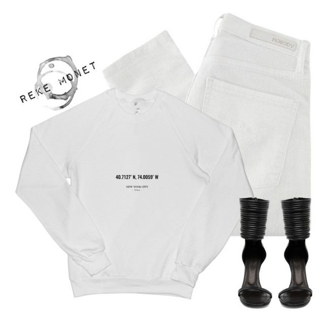 """Untitled #121"" by rekemonet ❤ liked on Polyvore featuring Nobody Denim and Rick Owens"