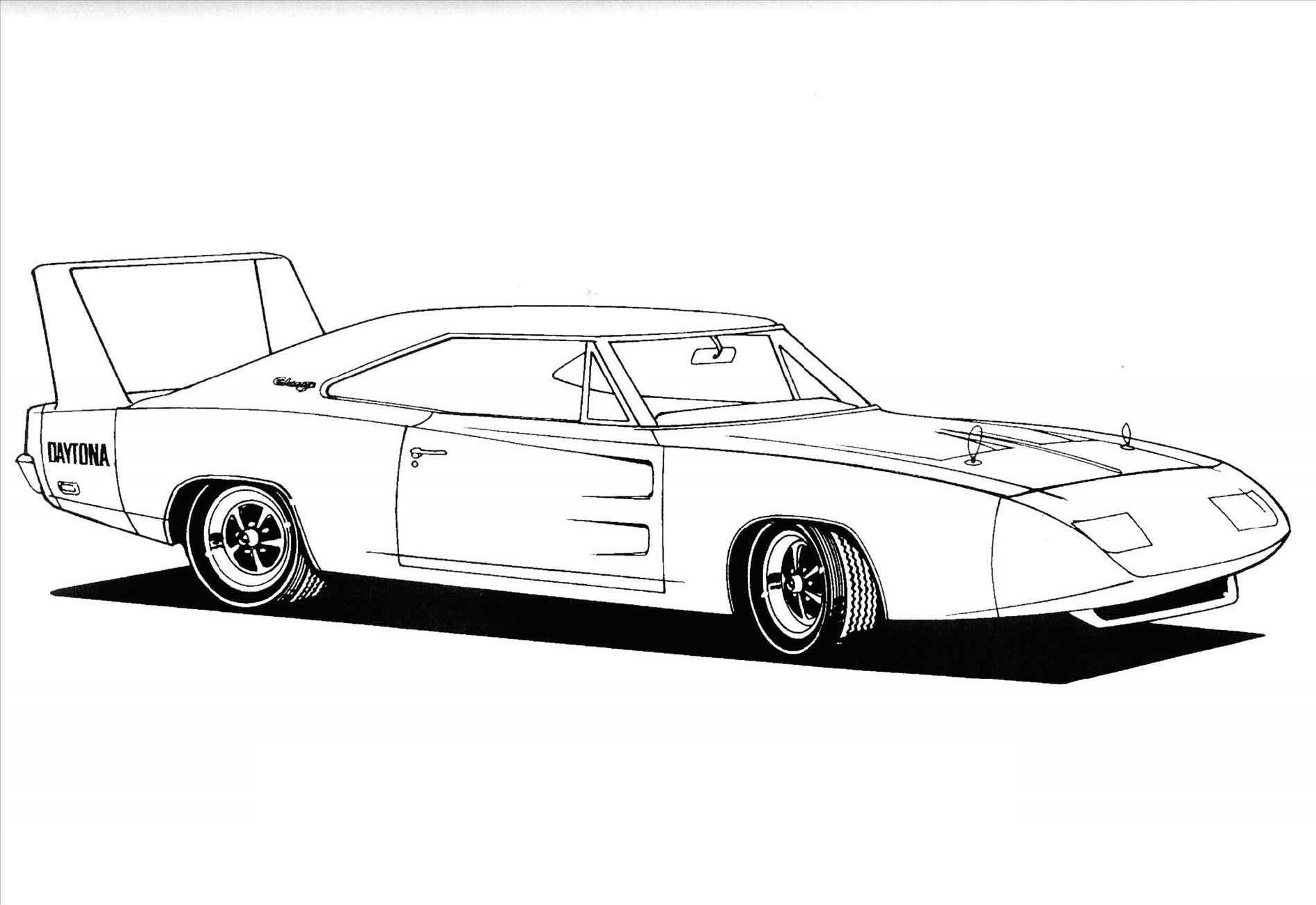 Fast and Furious Coloring Pages Daytona Charger