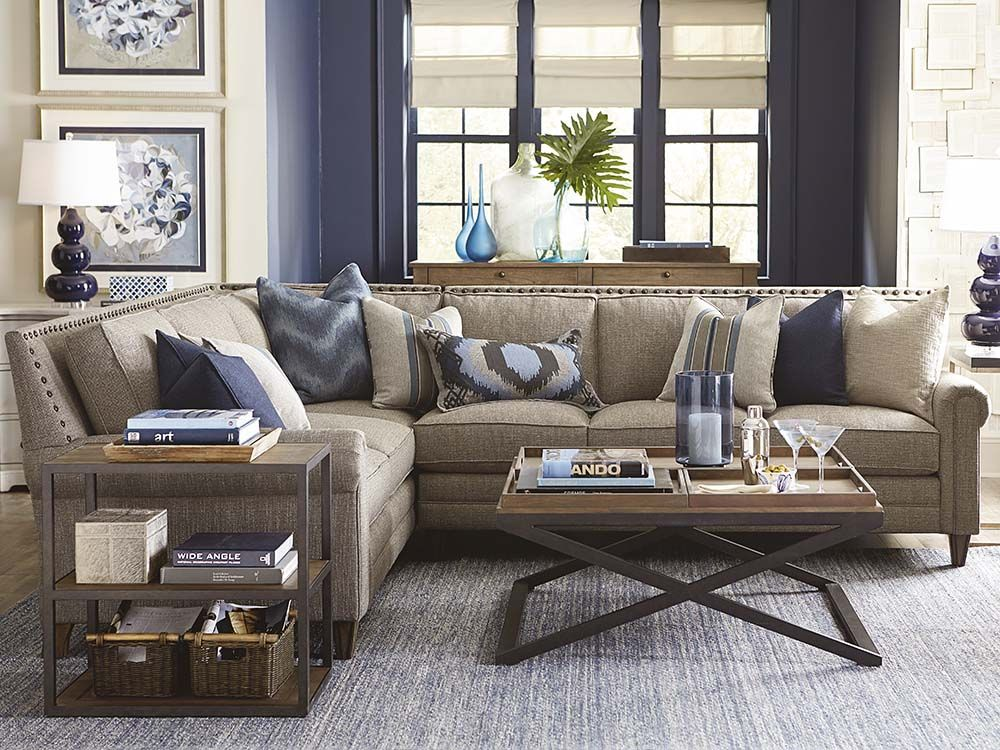 Large L Shaped Sectional Bassett, Bassett Furniture Sectional